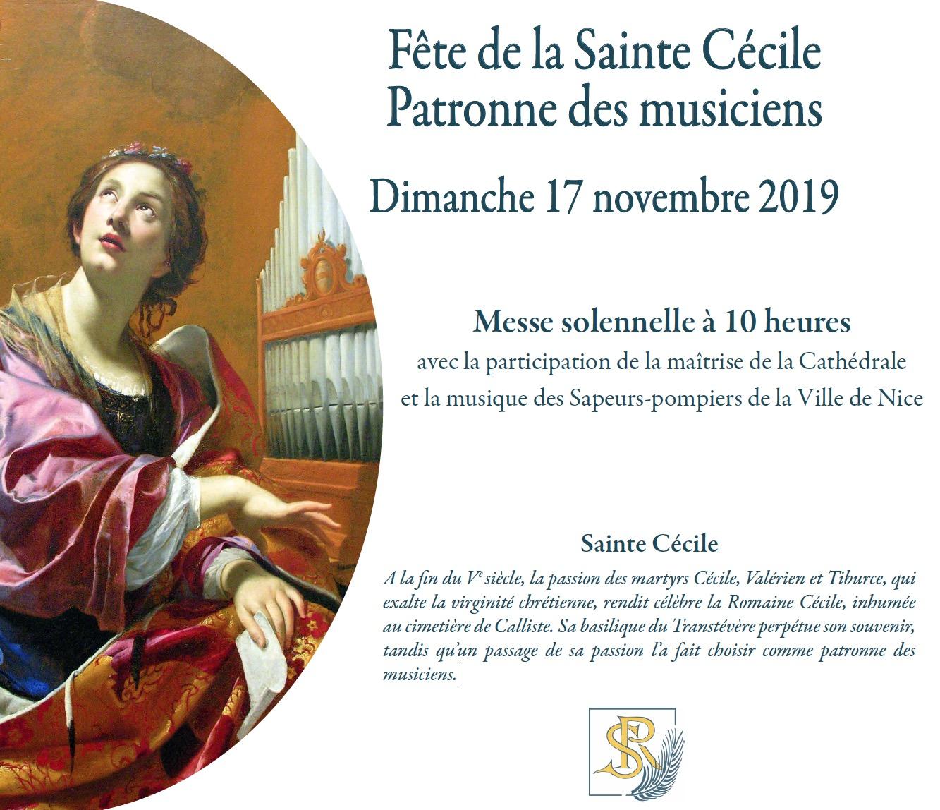17 novembre sainte cecile cathedrale nice
